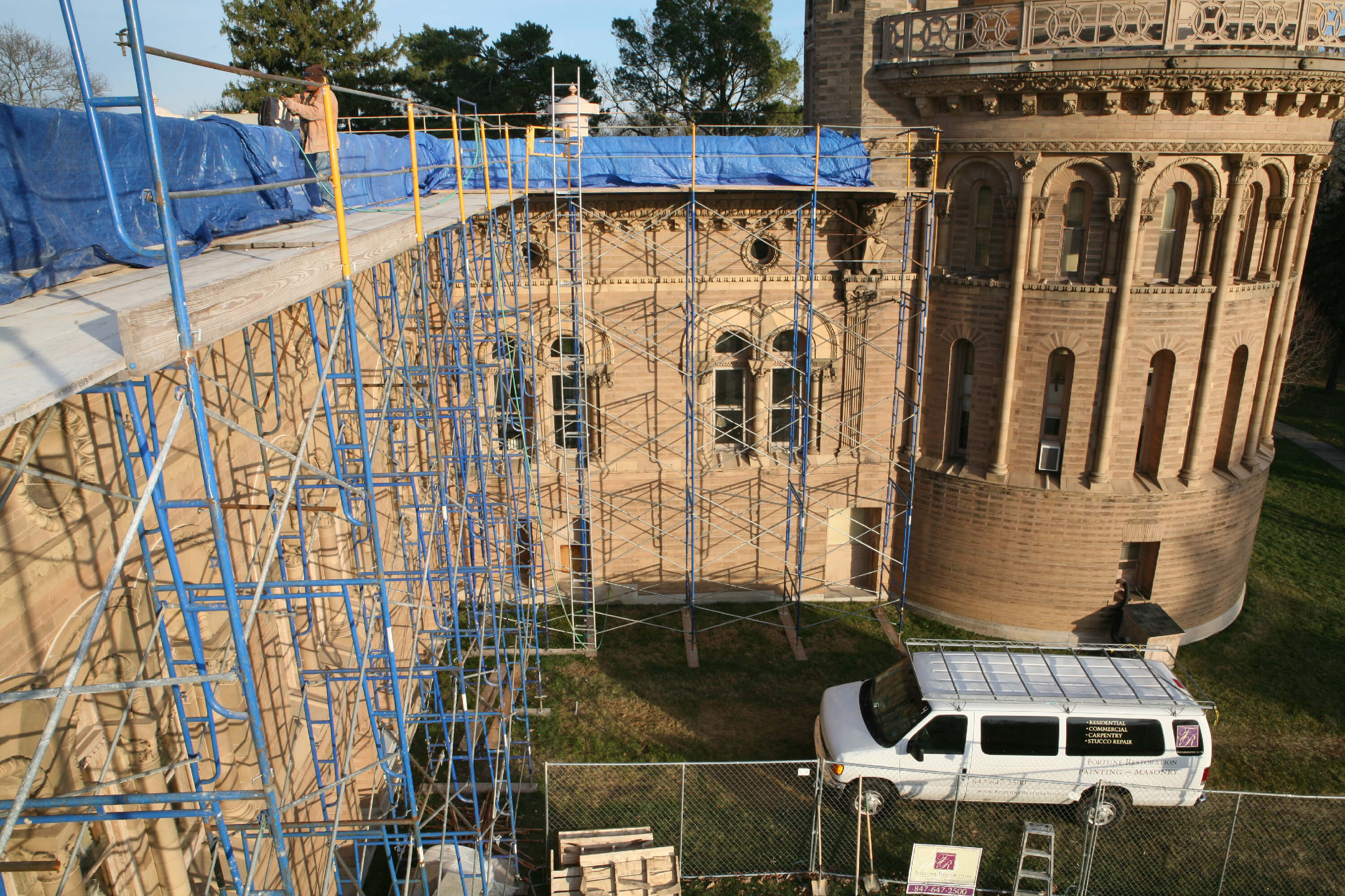 Restoration Work Yerkes Observatory, Williams Bay WI