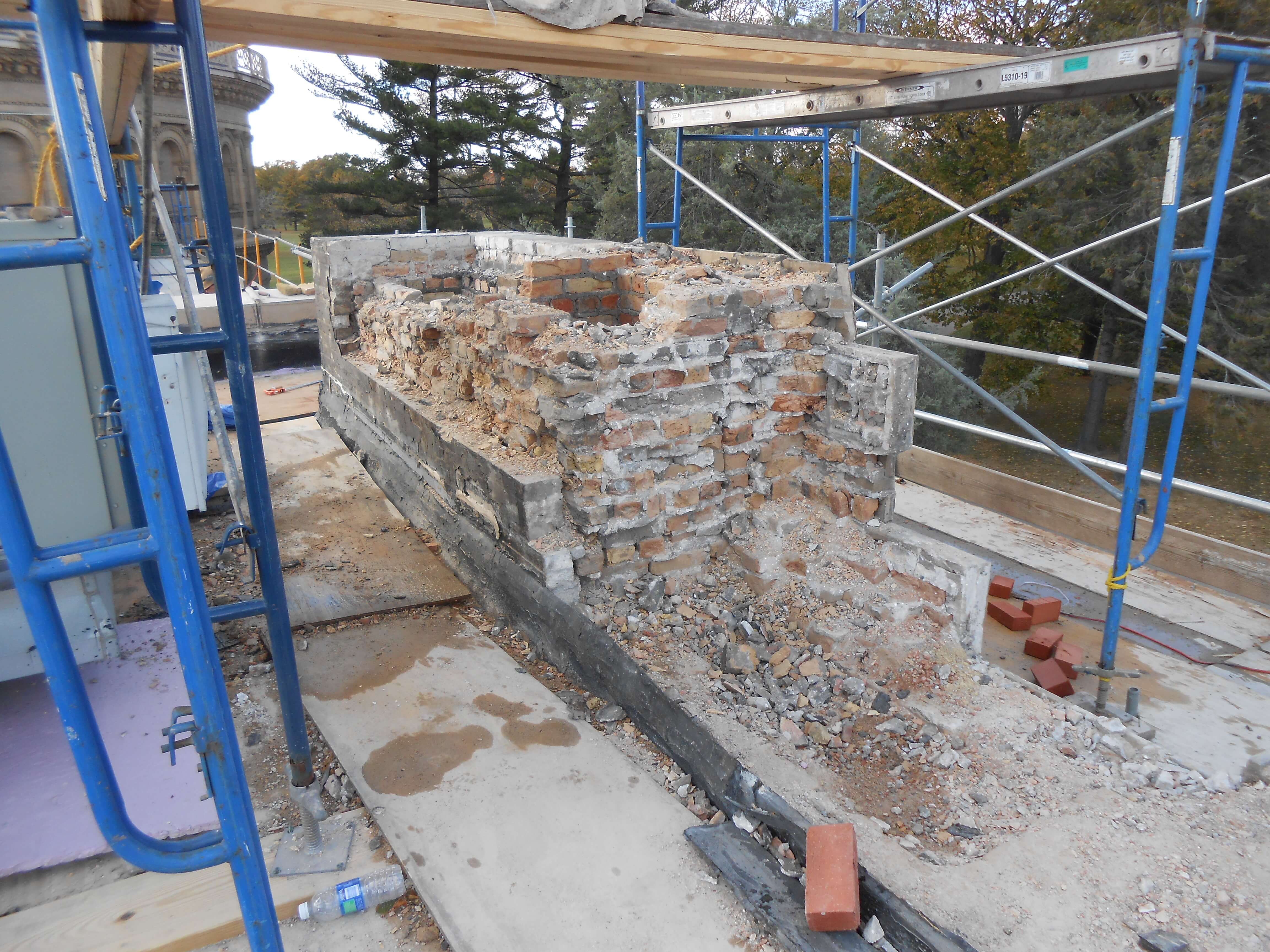 Walls Restoration Work Yerkes Observatory, Williams Bay WI