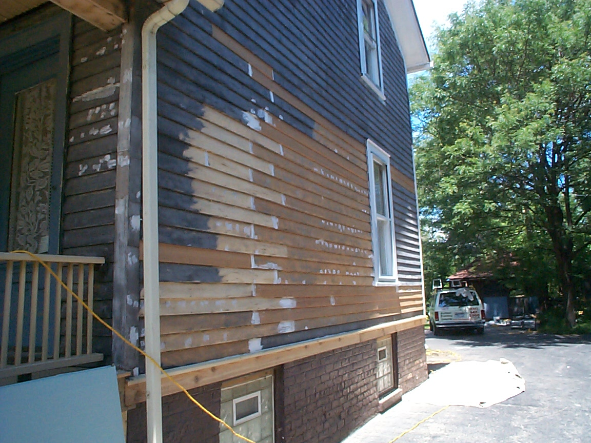 wood siding repair. Since Colonial Times, American Homes Have Been Protected From The Outside Elements By Thin, Overlapping Wood Planks Also Known As Clapboard. This Siding Was Repair N