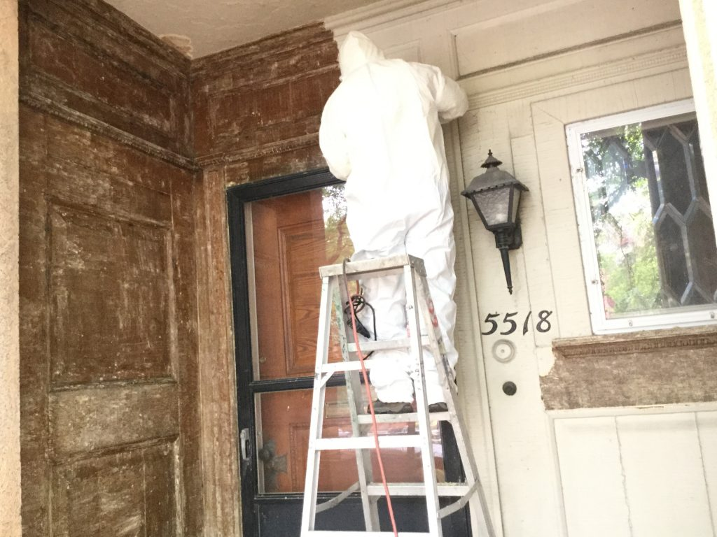 Lincoln Park Paint Removing